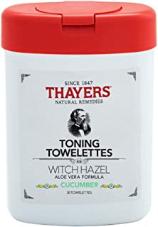 Thayers Alcohol-Free Cucumber Witch Hazel Toning Towelettes, 30 wipes