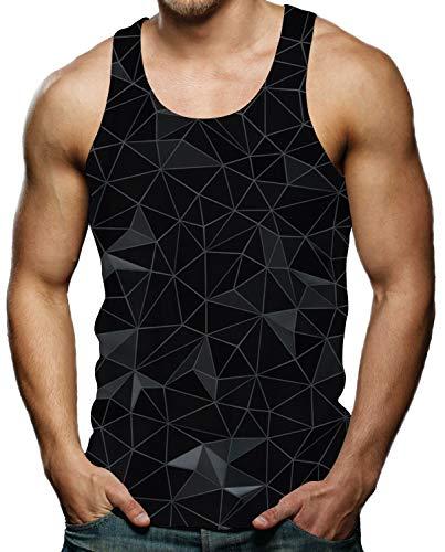 Men s Tank Tops Black Diamond Geometric Graphic Tee Tops Cool Gym Workout Rave Gay Pride Sleeveless Shirts