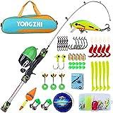 Sougayilang Canne à pêche pour enfants, canne à pêche télescopique portable et moulinet, avec ligne de pêche leurres sac de pêche pour filles et garçons voyageant canne à pêche pour enfants-G