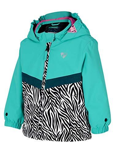 Ziener Amai Mini (kurtka narciarska) dziecięca kurtka narciarska / kurtka zimowa   wodoszczelna, wiatroszczelna, ciepła turkusowy wild zebra print 104