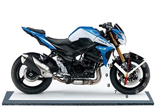 auto-horloge Moto Suzuki 750 GSR , Miniatur Modell Motorrad in der Uhr 01