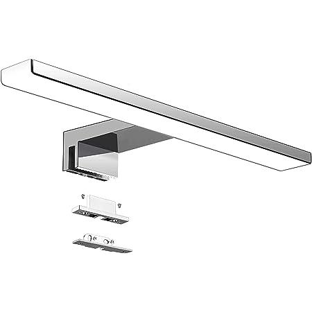 Aogled Lampe Miroir Salle de Bain 10W 820LM 40cm 230V 4000K,IP44 Imperméable Classe II,3 en 1 Miroir Lumineux LED,Non Scintillement,Pince sur Miroir,Lampe LED 400mm