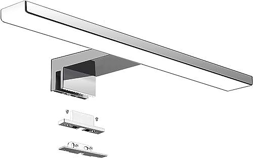 Aogled Lampe Miroir Salle de Bain 10W 820LM 40cm 230V 4000K,IP44 Imperméable Classe II,3 en 1 Miroir Lumineux Led,Non...