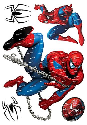 YOUKU Grande F0163-02 Spider-Man Marvel Dibujos Animados portátil teléfono Maleta Pegatina Impermeable