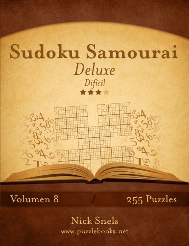 Sudoku Samurai Deluxe - Difícil - Volumen 8 - 255 Puzzles: Volume 8