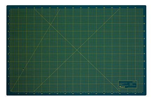 Tappetino da taglio a 3 strati e autorigenerante, colori verde e nero, 60 x 90 cm, formato A1