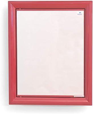 Nilkamal Gem Plastic Cabinet with Mirror (Maroon)