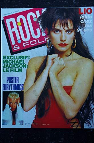ROCK & FOLK 236 DECEMBRE 1986 COVER LIO MICHAEL JACKSON LOLITA + POSTER EURYTHMICS