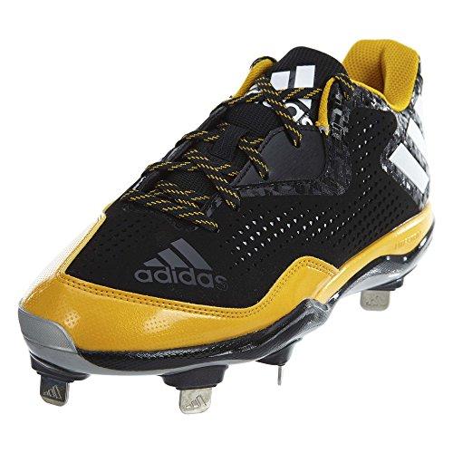 adidas Herren Freak X Carbon Mid Baseballschuh, Schwarz (Schwarz/Weiß/Collegiate Gold), 42 EU