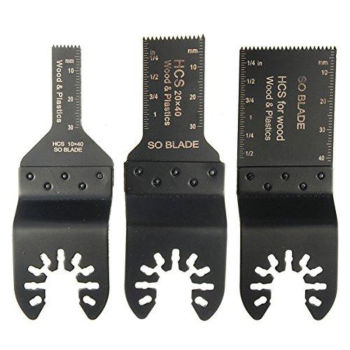 Ils - 3 stuks HCS zaagblad oscillerende multitool voor fijne multimaster Makita Ozito