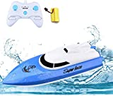 STOTOY RC Boat, Remote Control Racing Boats for Pools and Lakes, 2.4G HZ Electric Mini Speed Boat for Kids &...