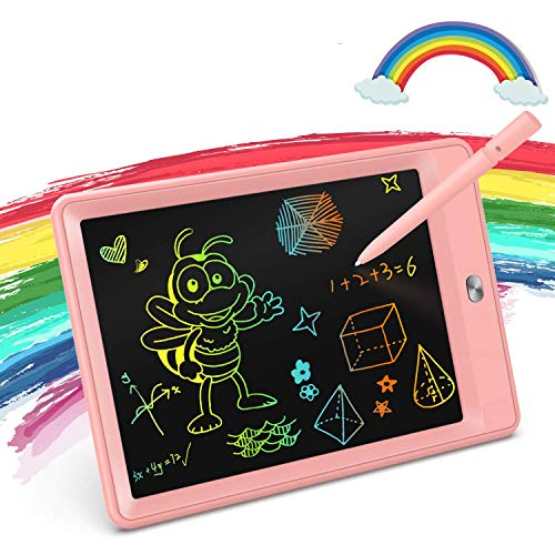 KOKODI Girls Toys for 3-6 Year Old Girls Gifts, 8.5-Inch Colorful LCD Writing Tablet Doodle Board Drawing Pad, Educational Birthday Gifts as Girls Toys for Age 3 -6 (Pink)