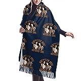 Yuanmeiju Bufanda larga de moda para mujer Supernatural Winchester Bros Wayward Sons Ladies Soft Large Cashmere Blend Scarf Warm Cashmere Skirt Elegant Shawl Wrap