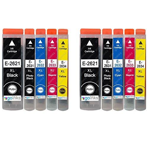 2 Go Inks Conjunto de 5 Cartuchos de Tinta para reemplazar Epson T2636 (26XL Series) Compatible/Non-OEM para Epson Expression Premium Impresoras (10 Tintas)