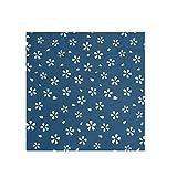 Bandana grande cuadrada bufanda ligera impresión seda sintética Headwear para mujer 2030292 20.6 x 23.6 pulgadas