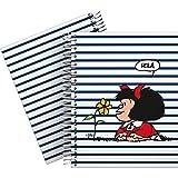 Mafalda 16512613 Colección Mafalda Cuaderno, Cuadriculado 5 mm, Modelo Marinera, A5