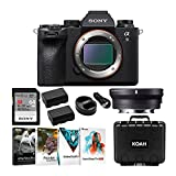 Sony Alpha a9 II Full-Frame Mirrorless ILC (Body Only) with Sigma MC11 Adapter for Canon EF Lenses Bundle (6 Items) (6 Items)
