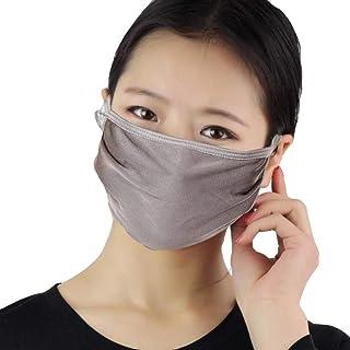 2PC Women Silk Reusable Mask Filter PM2.5 Air Filtration Mask