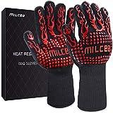MILcea Grillhandschuhe Ofenhandschuhe Grill Handschuhe zubehör Hitzebeständige bis zu 800