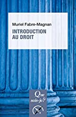 Introduction au droit de Muriel Fabre-Magnan