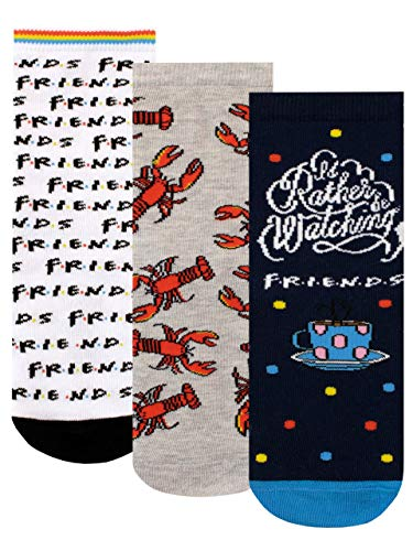 FRIENDS Calcetines Paquete de 3 para Niñas Multicolor 37-40