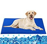 HAPPY HACHI Dog Cooling Mat Large, 90 * 50cm Pet Cool Pad Durable
