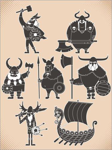 Posterlounge Cuadro de metacrilato 120 x 160 cm: Fearless Vikings de Kidz Collection/Editors Choice