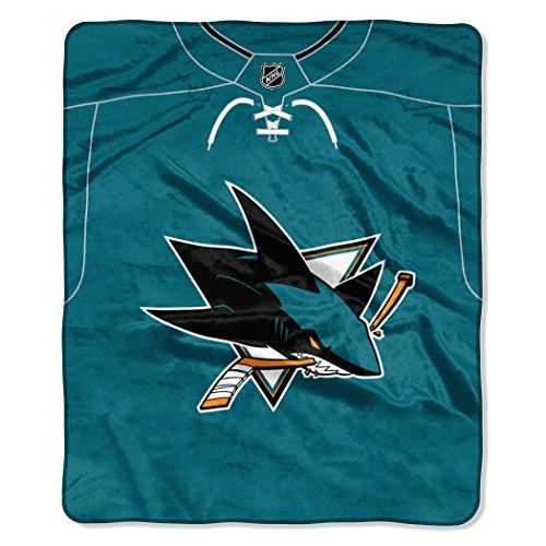 The Northwest Company NHL San Jose Sharks Jersey Raschel Manta, 127 x 152 cm