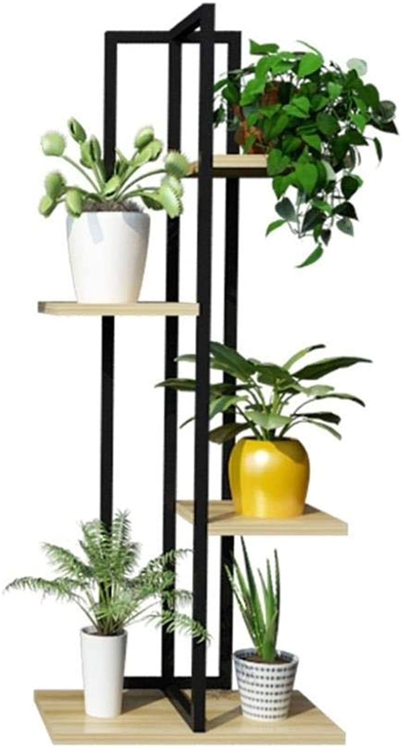 Flower Stand-Metal 4 Layer greenical Green Plant Flower Pot Display Rack Storage Rack, Home Decoration Rack, Flower Shop Shelf Indoor Room Bonsai Display Stand - 40×W40×H100CM (color    4)