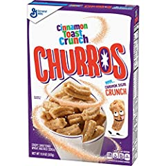 The great taste of Cinnamon Toast Crunch cereal with a mix of sweet cinnamon sugar and crunch in an all-new bite size churros form Perfectfor breakfast or as snack Bite sized pieces perfect in milk for breakfast or to munch on as a snack throughout ...