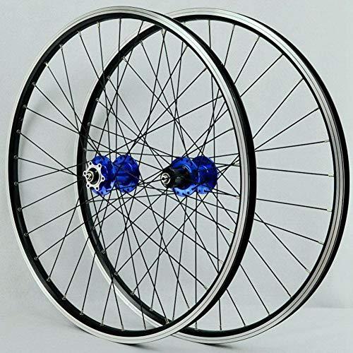 Juego de ruedas MTB Llanta de bicicleta de 26 pulgadas 32 Spoke Mountain Rueda delantera y trasera de bicicleta Disco / Llanta Cassette de freno de 7-11 velocidades Cubos de rodamientos sellados QR,C