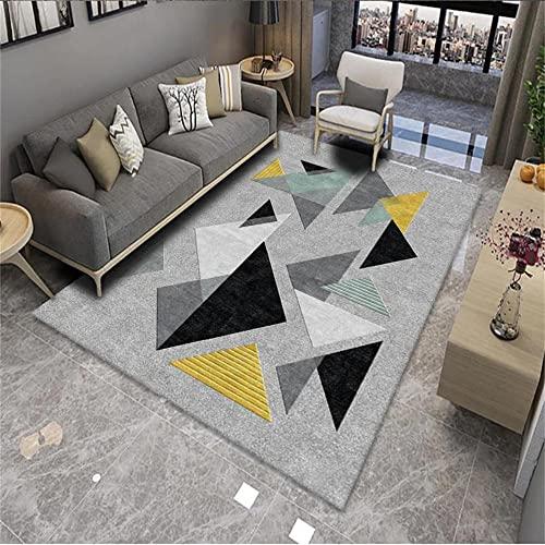 Alfombras Infantiles Lavables Alfombra Niña Habitacion Diseño de patrón geométrico en blanco y negro sala de estar moderna cocina área de oficina seguro antideslizante, resistente al desgaste y resist