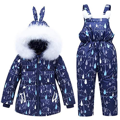 CARETOO Kinder Mädchen Junge Süß Winter Warm Daunenjacke Verdickte Winterjacke mit Kapuze Kälteschutz Windschutz Schneeanzüge