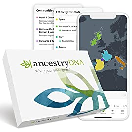 AncestryDNA: Genetic Ethnicity Test 1 <p>Discover your DNA story with our easy-to-use kit. Simply send in your saliva sample to our lab in the prepaid package, and your report will be ready in around 6-8 weeks. Detailed instructions are included. AncestryDNA is the #1 selling consumer DNA test.* From your origins in over 1000 regions, to the most connections to living relatives, no other DNA test delivers such a unique, interactive experience. Our new DNA experience gives you a more precise ethnicity estimate with greater geographic detail and in-depth historical insights. Combine what you learn from your DNA with an Ancestry Subscription, for access to millions of family trees and billions of records, for even more insight into your genealogy and origins. *Substantiated by AncestryDNA, January 2019 report.</p>