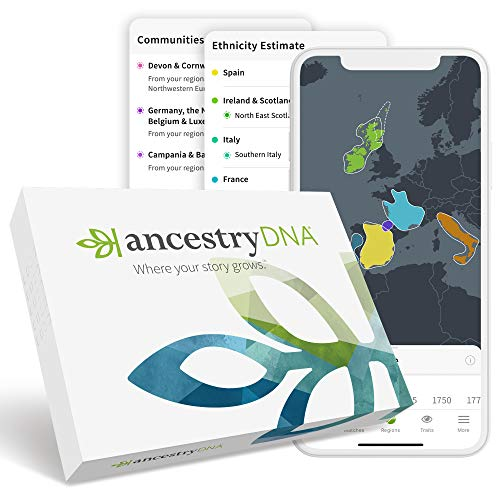 AncestryDNA: Genetic Ethnicity Test, Ethnicity Estimate, AncestryDNA Test Kit, Health and...