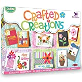 ABOUT THIS KIT – This Toykraft greeting card making activity kit for kids teaches techniques such as collage to make use of a rich brew of craft material. Thereby you can make your very own designer greeting cards. This activity offers a perfect alte...