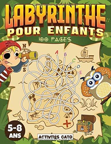 Labyrinthe enfant 5-8 ans: 100 Labyrinthes pour enfants, labyrinthe livre de puzzles pour les enfants, livre de jeux labyrinthes 5 ans 6 ans 7 ans 8 ... Jeu labyrinthe junior. Livre d'aventure