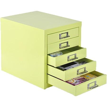 Color : Green LQ Desktop File Cabinet A4 5th Floor Drawer Stationery Storage Box Filing Cabinets Folder