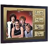 SGH SERVICES Gerahmtes Poster Queen Freddie Mercury Brian