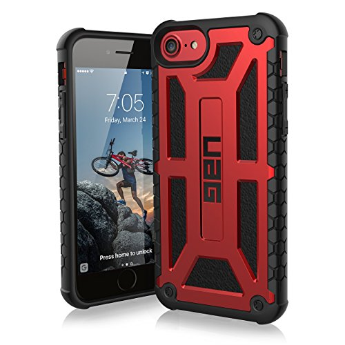 URBAN ARMOR GEAR [UAG] iPhone 8/iPhone 7/iPhone 6s [4.7-inch Screen] Monarch Feather-Light Rugged [Crimson] Military Drop Tested iPhone Case (Renewed)