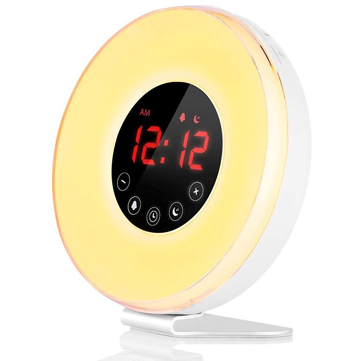 Wake- Up Light, LBell Alarm Clock 8 Colored Sunrise Simulation & Sleep Aid Feature, Dual Alarm Clock with FM Radio, 7 Natural Sound and Snooze for Kids Adults Bedrooms (6639-wake up Light)