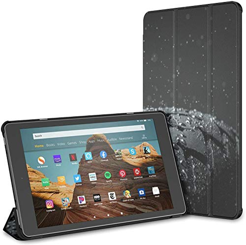 Funda para Lluvia, neumático de Coche, Gota de Agua, Tableta Fire HD 10 (9a / 7a generación, versión 2019/2017) Fundas y Cubiertas para Tableta Kindle Fire HD 10 Cubierta para una Tableta Fire HD 10