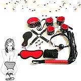 Confezione 10 pezzi in pelle rossa e nera con set di sorpresa-Halloween