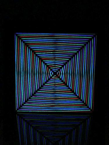 PSYWORK - Guirnalda de Luces Negras 2D Hypnotic Neon I Black, 90 cm