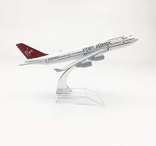 16 cmバージンアトランティック航空機モデルボーイング747 Metalldruckguss航空モデルB747航空1:400