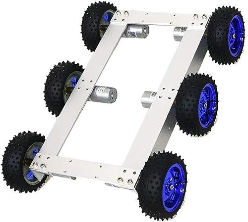 Homyl Tank Chassis de Réservoir de Voiture Robot avec Moteur - Roue Bleue