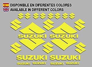 Ecoshirt 2H-GH3L-4L52 Autocollants pour Moto Rgsx Suzuki R170 Autocollants Autocollants Orange