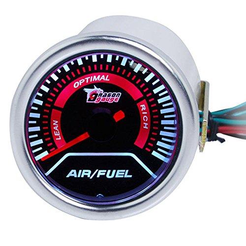 Supmico 52mm Weiß LED Licht Kfz Auto Universal Air/Fuel Luft/Gas Gemisch Anzeige Instrument Gauge Rauchfarbe Len Messgerät