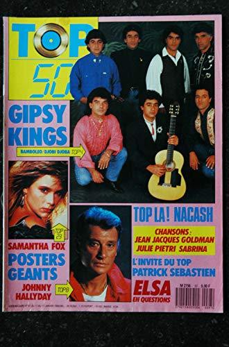 TOP 50 097 1988 01 POSTER GEANT SAMANTHA FOX GIPSY KINGS JOHNNY HALLYDAY ELSA PATRICK SEBASTIEN