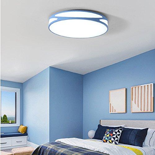 Waineg Lampada da soffitto moderna minimalista a led Lampada da soggiorno nordica a camera da letto creativa Balcone per bambini Lampada da soffitto a colori Diametro 45 cm